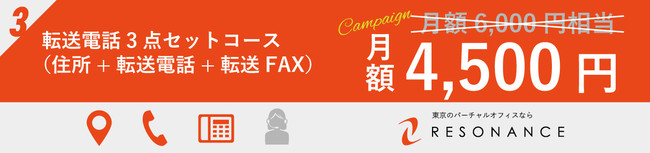 レゾナンス渋谷_バーチャルオフィス_転送電話3点セットコース